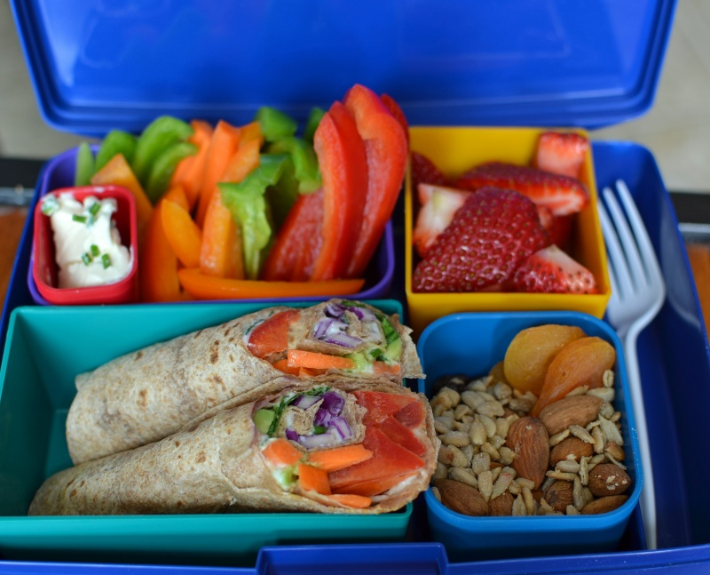 Balanced meal in lunchbox