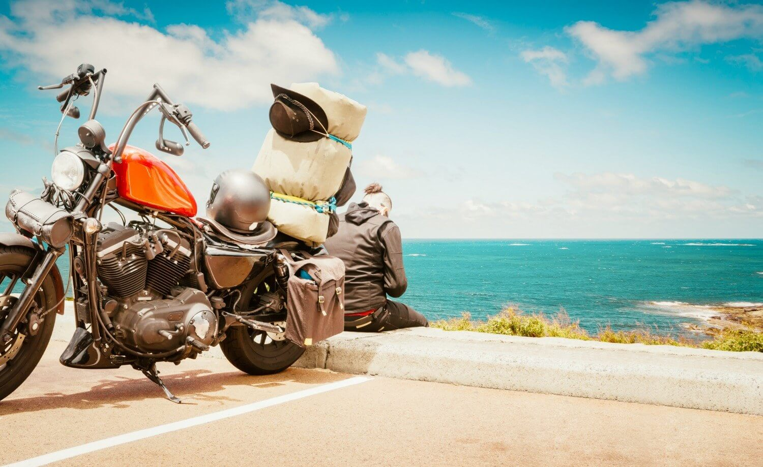 motorcycle trip camping