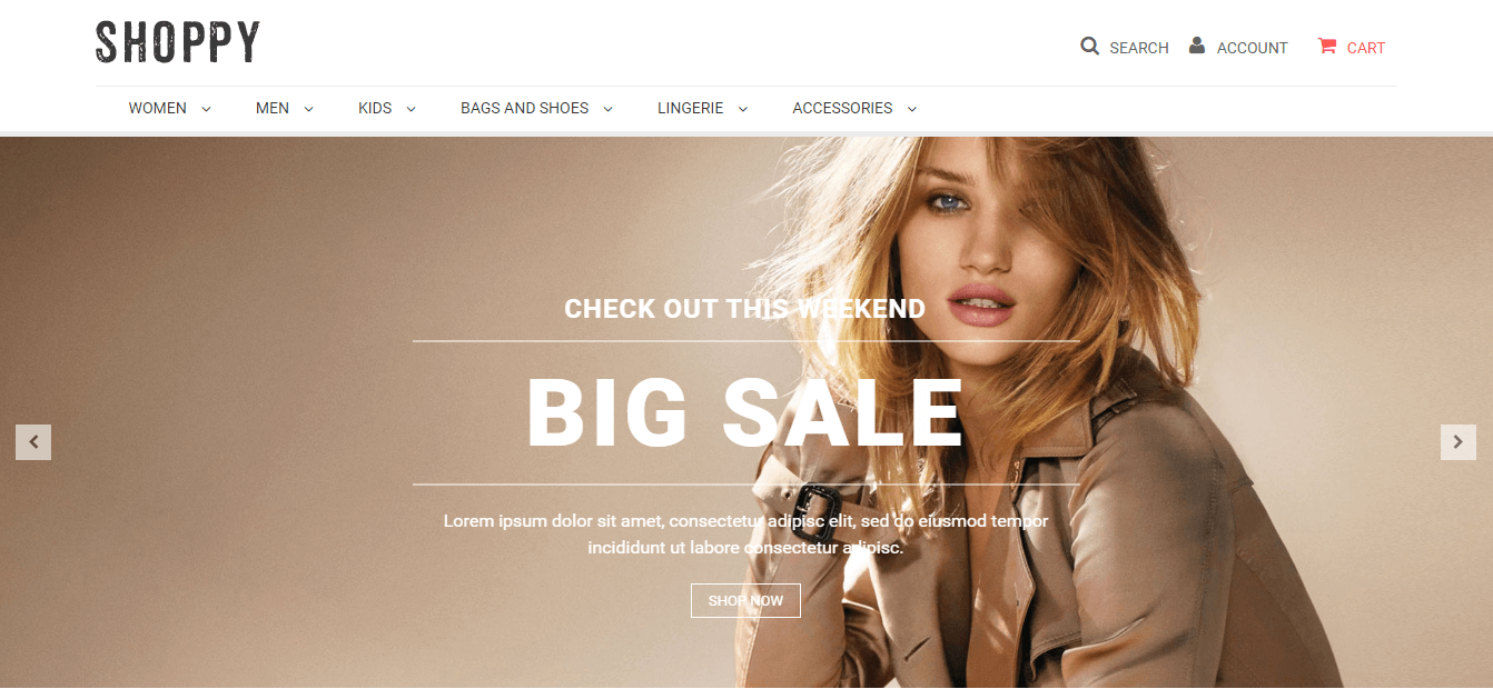 Shoppy magento theme
