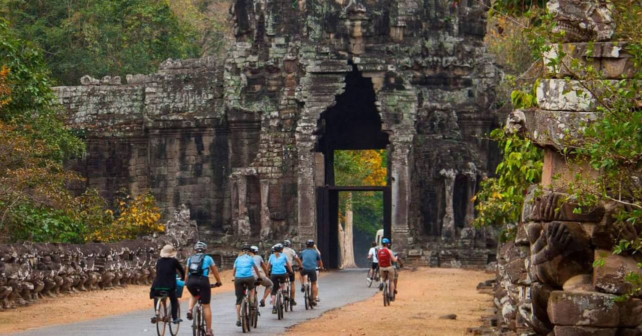 Siem Reap on a bike