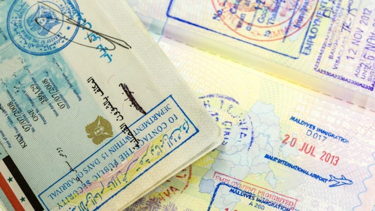 Visa-Stamp-in-Passport